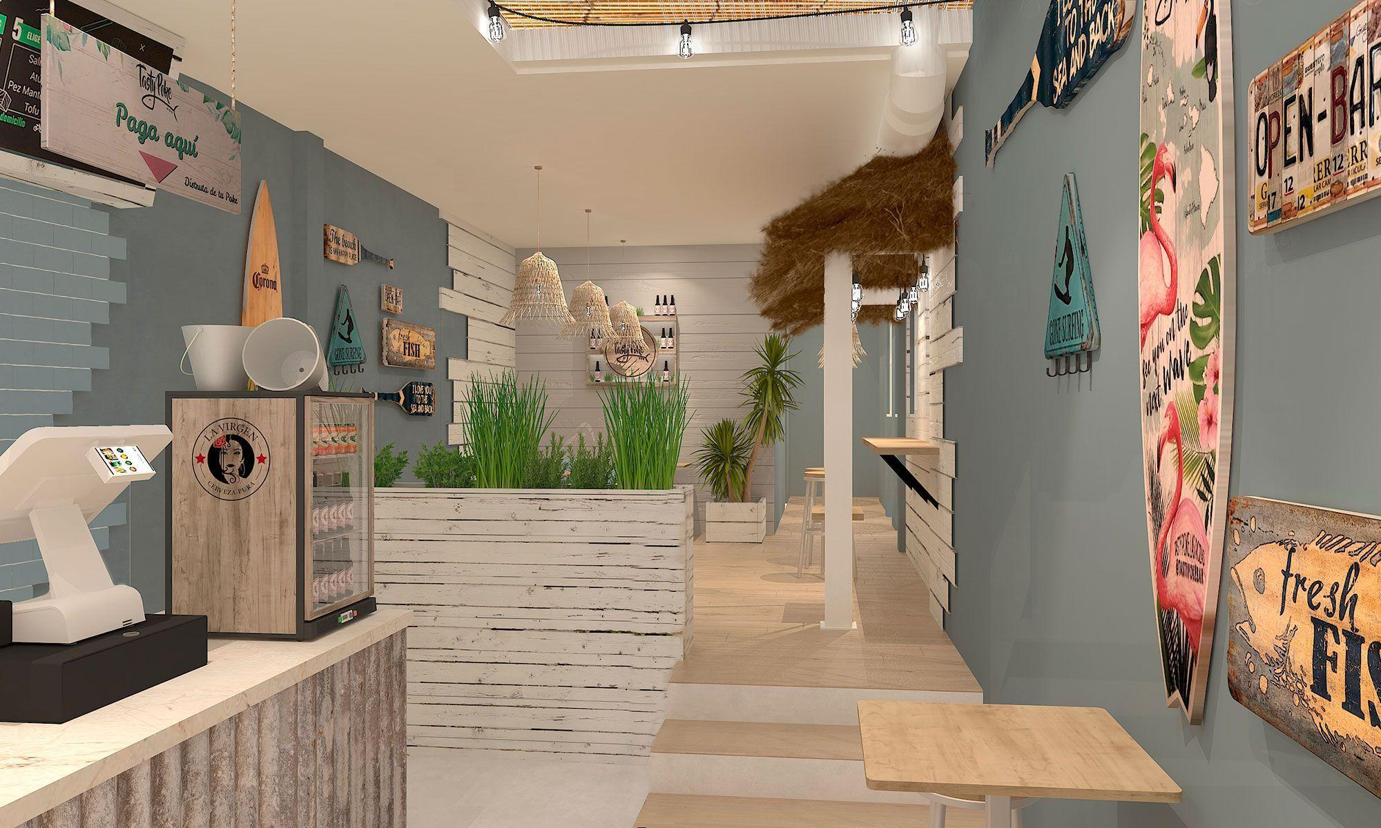 Modelado 3D restaurante