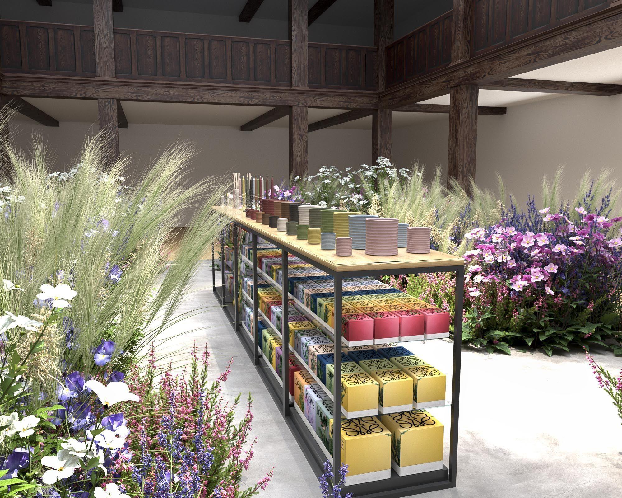 Imagen 3D plantas y flores