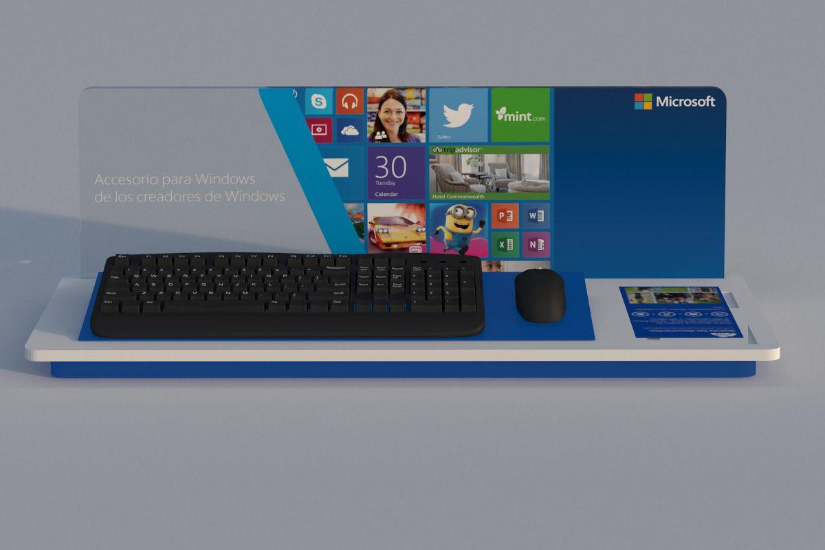 Soporte para teclado y mouse 3D